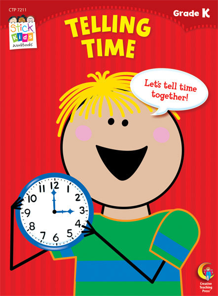 Telling Time Stick Kids Workbook, Grade K eBook