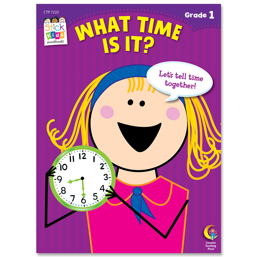What Time Is It? Stick Kids Workbook, Grade 1 eBook