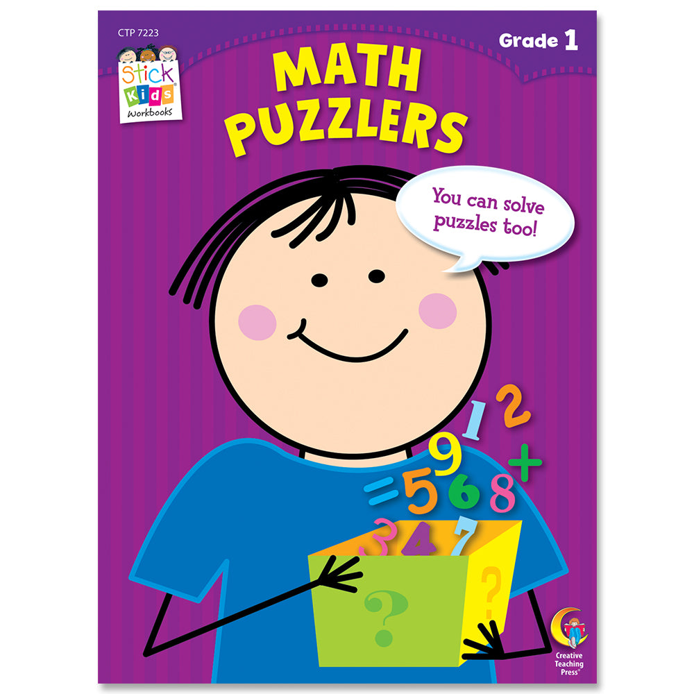 Math Puzzlers Stick Kids Workbook, Grade 1 eBook