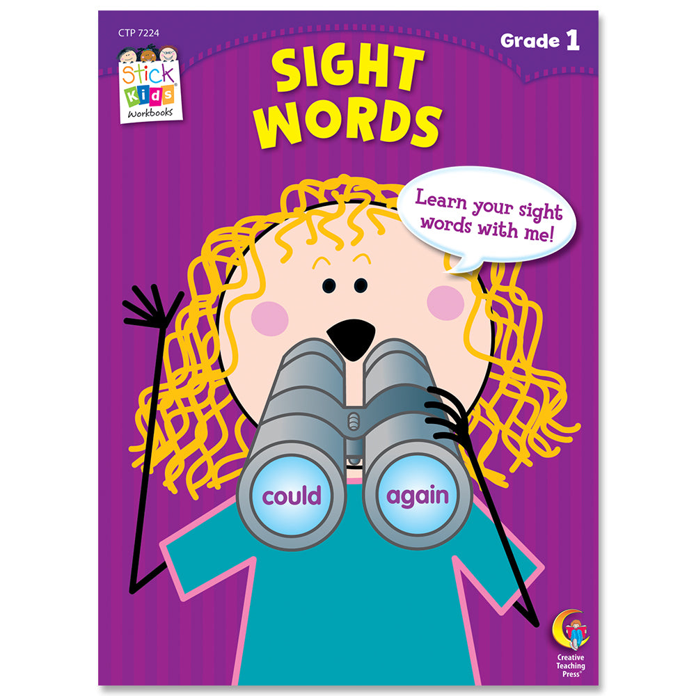 Sight Words Stick Kids Workbook, Grade 1 eBook