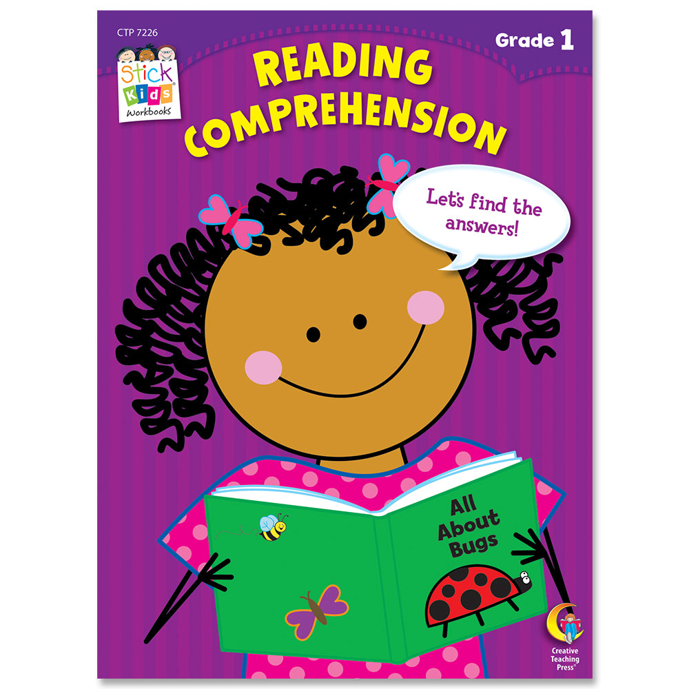 Reading Comprehension Stick Kids Workbook, Grade 1 eBook