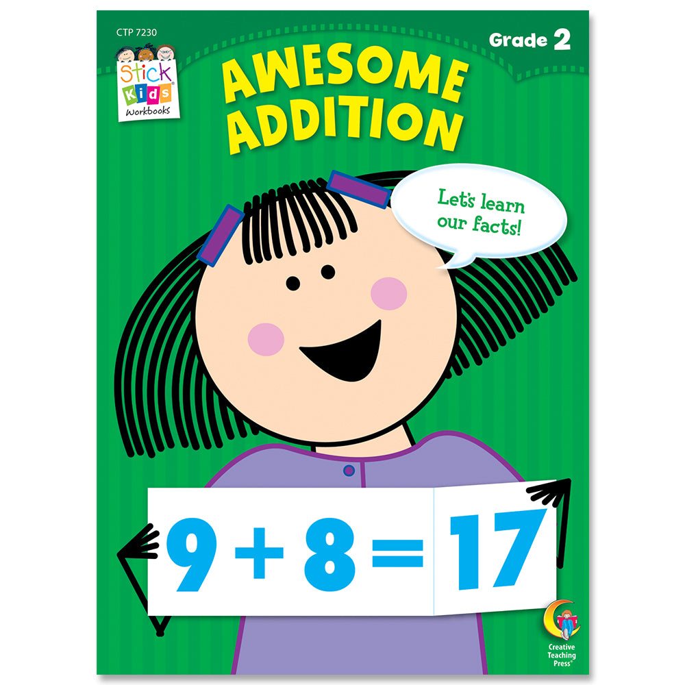 Awesome Addition Stick Kids Workbook, Grade 2 eBook