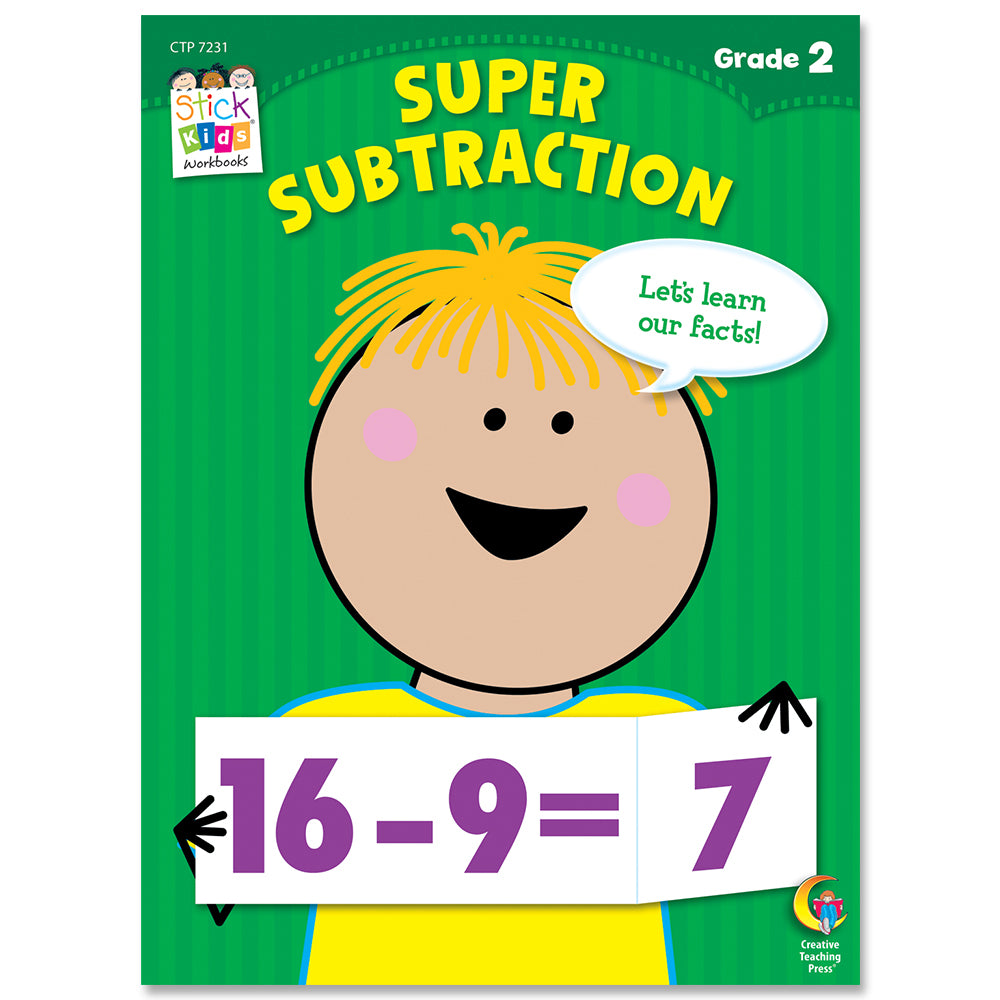 Super Subtraction Stick Kids Workbook, Grade 2 eBook