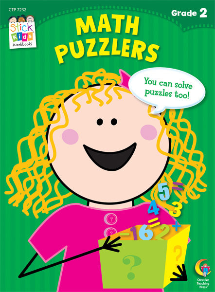 Math Puzzlers Stick Kids Workbook, Grade 2 eBook