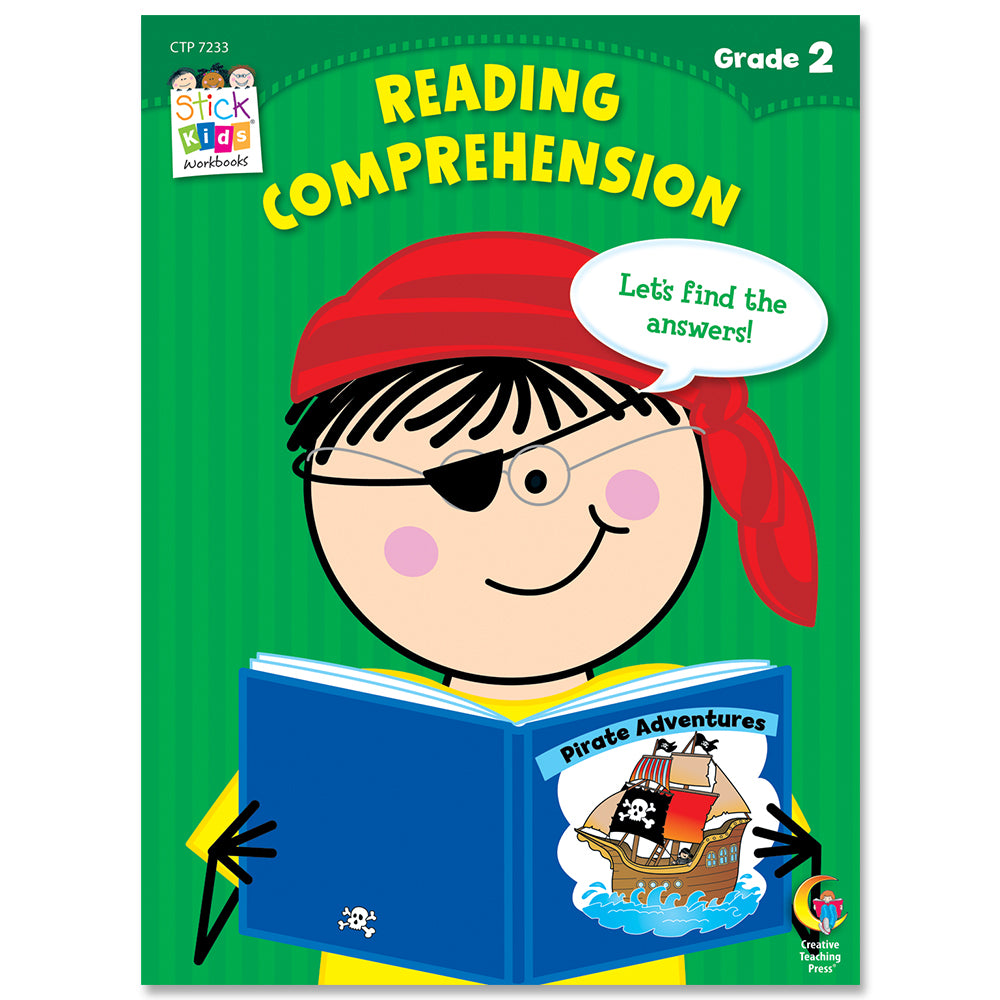 Reading Comprehension Stick Kids Workbook, Grade 2 eBook
