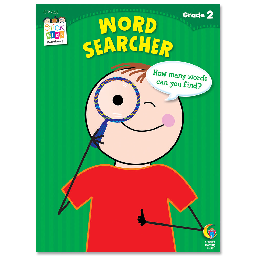 Word Search Stick Kids Workbook, Grade 2 eBook