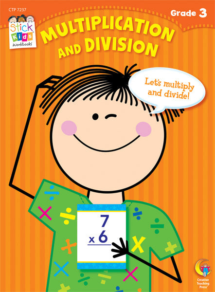 Multiplication and Division Stick Kids Workbook, Grade 3 eBook