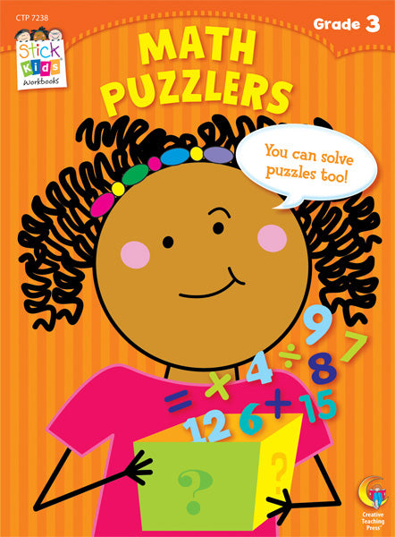 Math Puzzlers Stick Kids Workbook, Grade 3 eBook