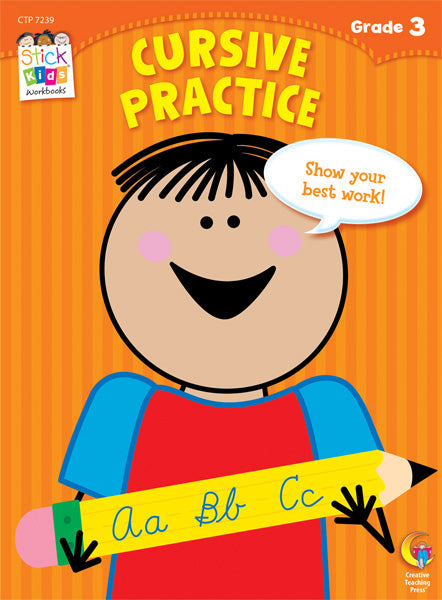 Cursive Practice Stick Kids Workbook, Grade 3 eBook