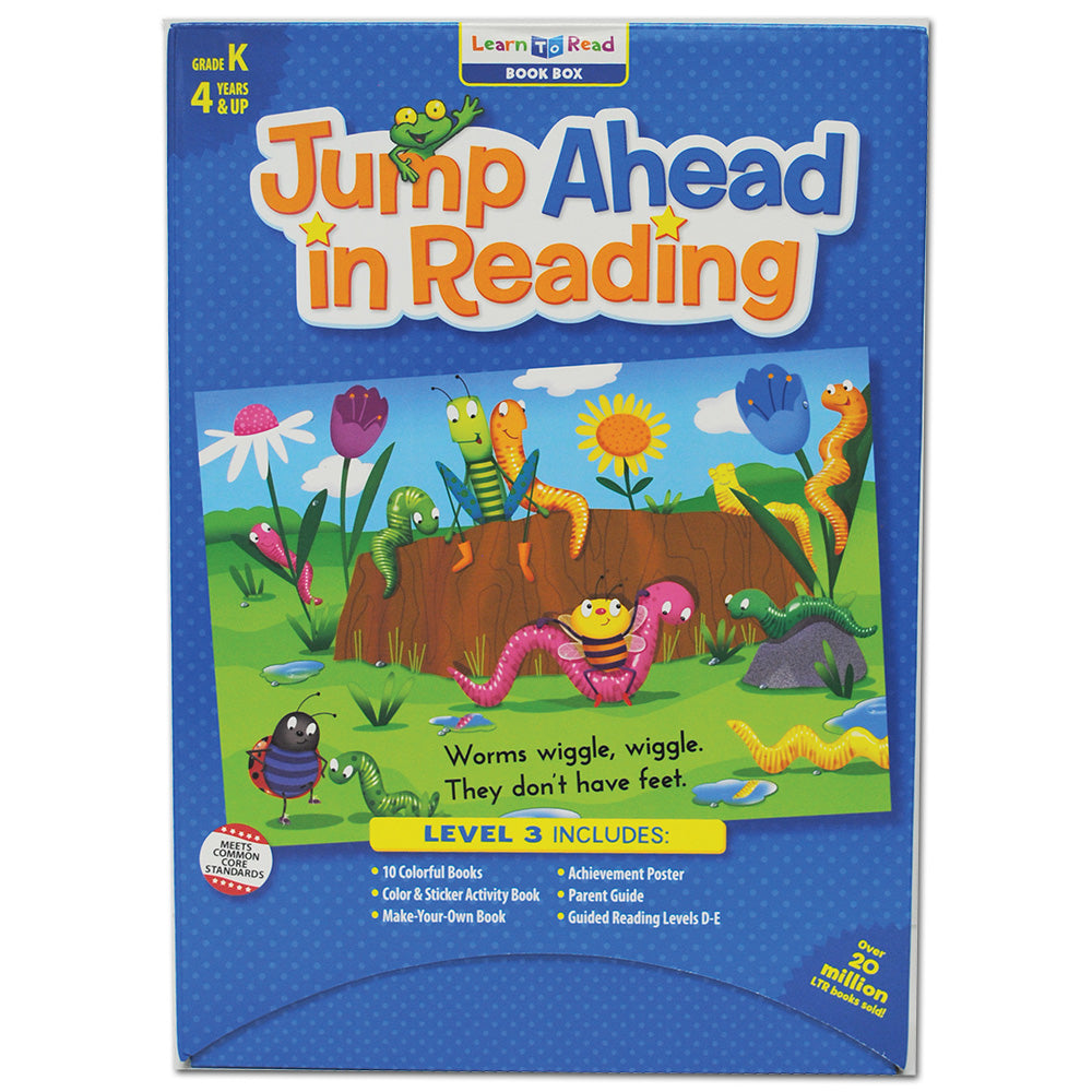 Jump Ahead in Reading Learn to Read Book Box, Guided Reading Levels D–E