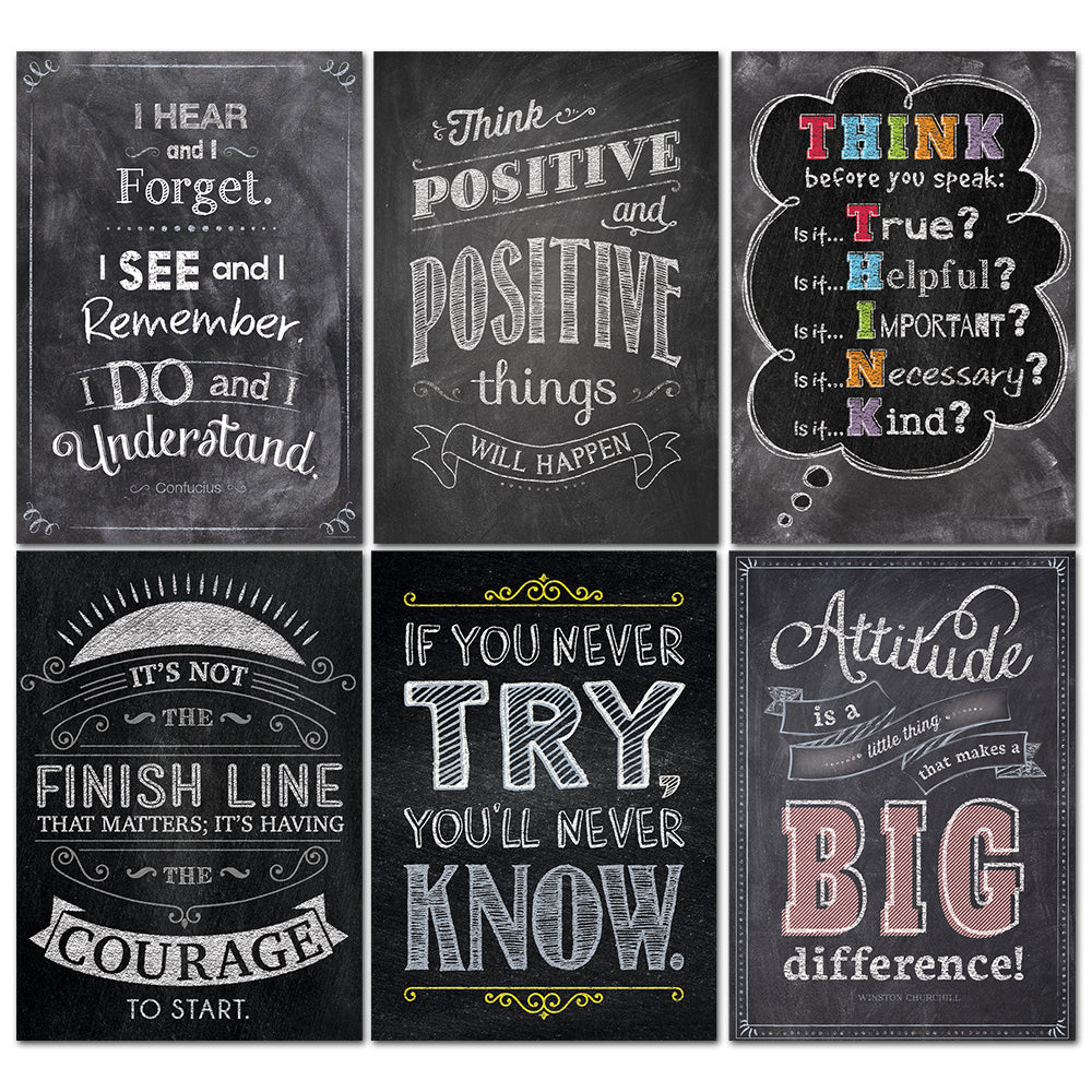 Inspire U Chalk Posters 6-Pack