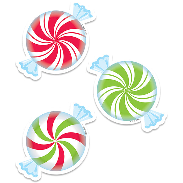 "Peppermint Candies 3"" Designer Cut-Outs"