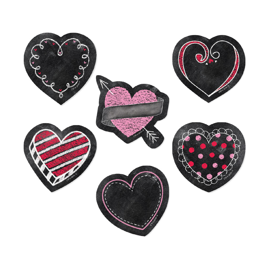 "Chalk Hearts 3"" Designer Cut Outs"