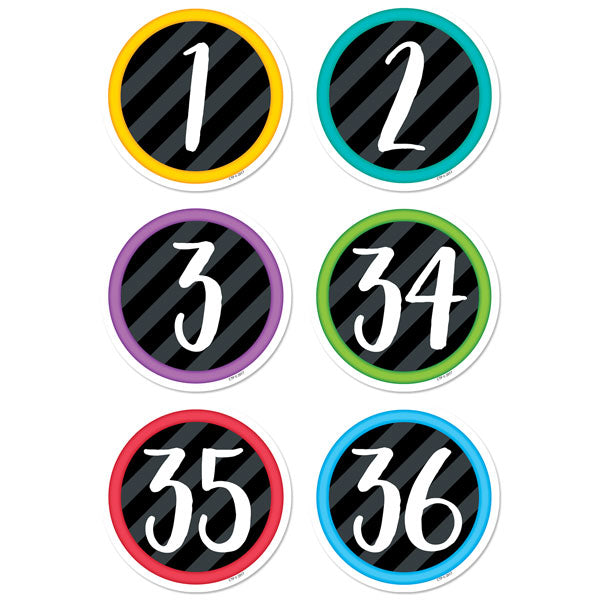 "Bold & Bright Student Numbers 3"" Designer Cut-Outs"