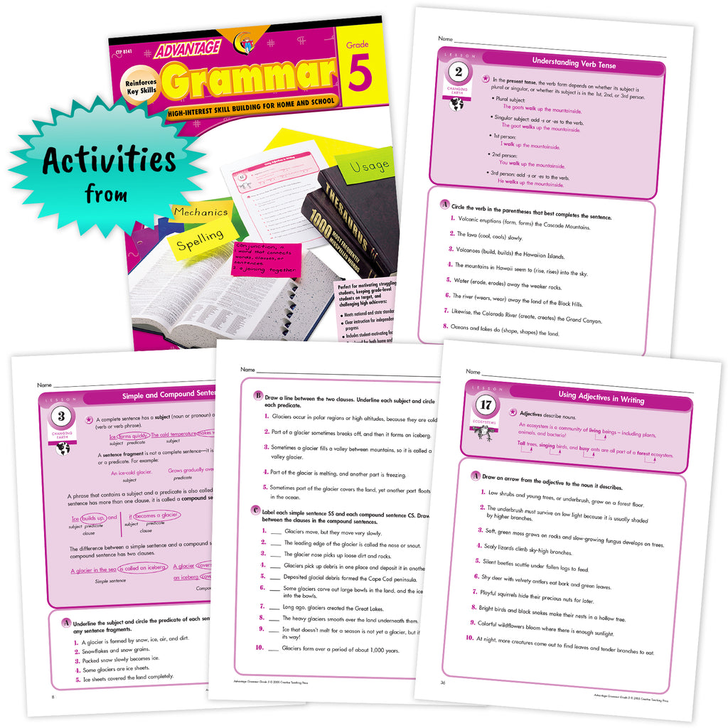 Grammar Grade 5 - Advantage Workbooks Bundle