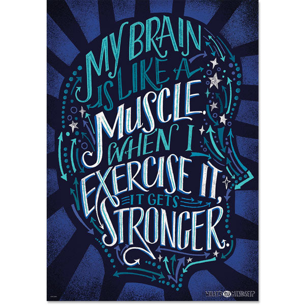 My brain is like a muscle… Inspire U Poster