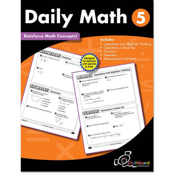 Daily Math Workbook, Grade 5