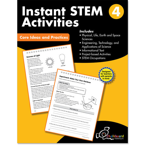 STEM Instant Activities Workbook, Grade 4