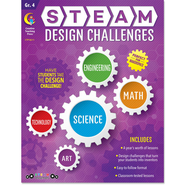STEAM Design Challenges Resource eBook, Gr. 4