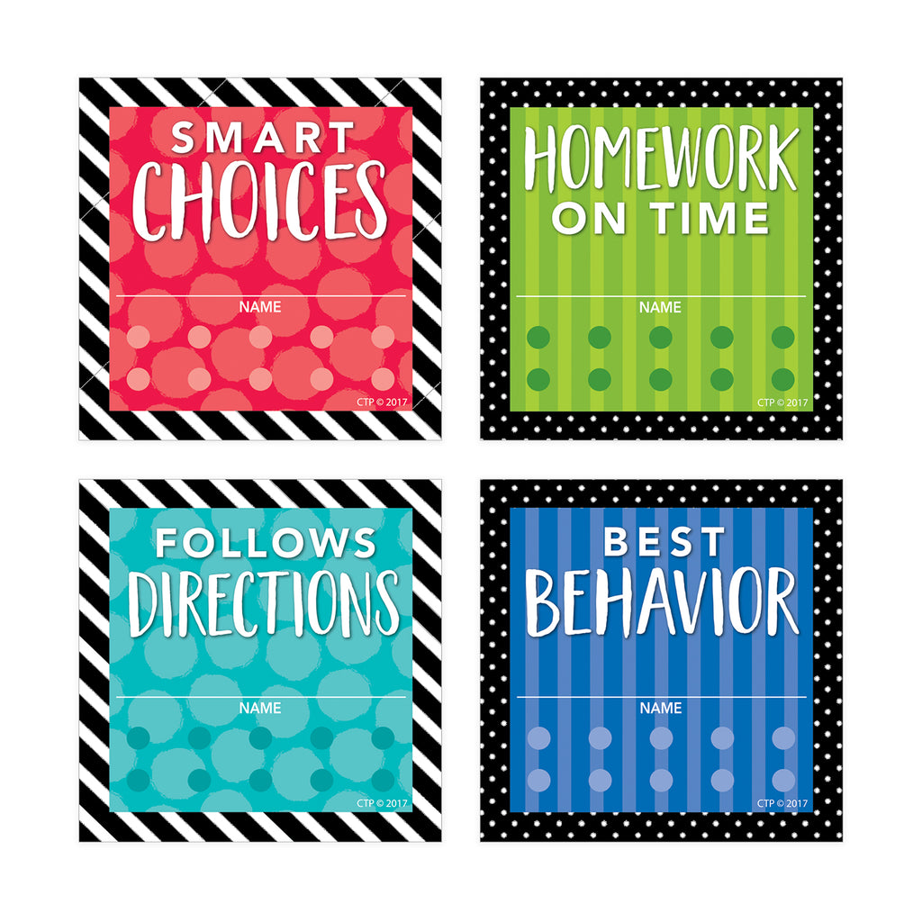 Bold and Bright Punch Cards Incentives