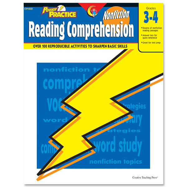 Power Practice: Nonfiction Reading Comprehension, Gr. 3-4, eBook