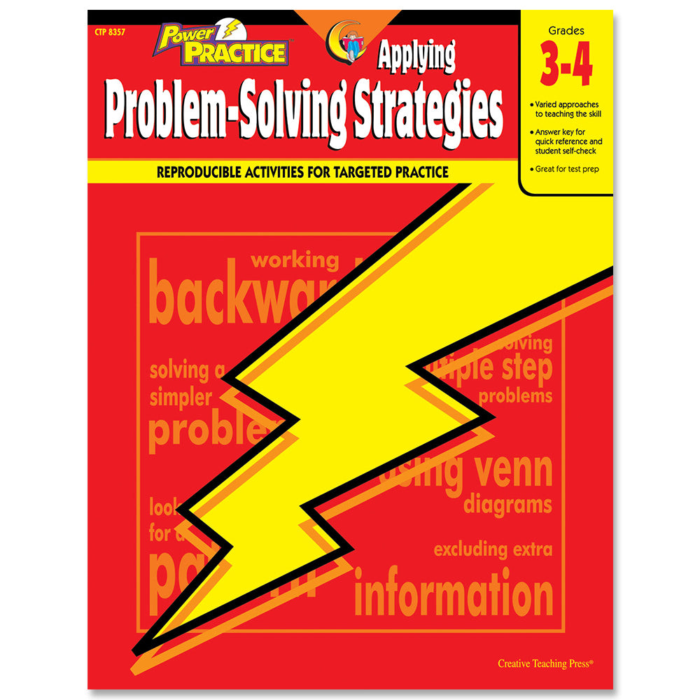 Power Practice: Applying Problem-Solving Strategies, Gr. 3-4, eBook