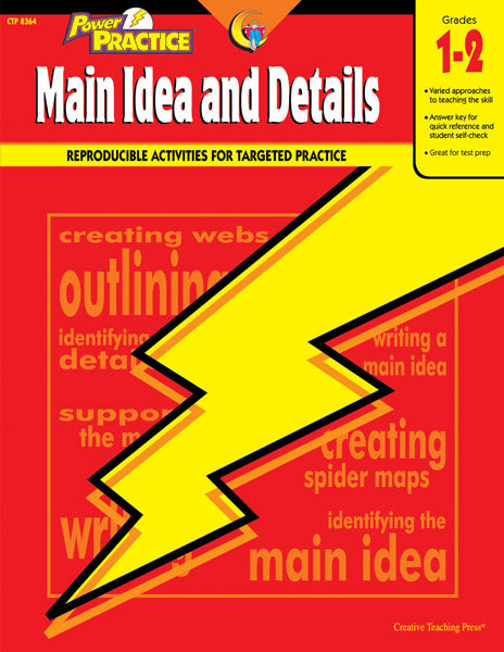 Power Practice: Main Idea and Details, Gr. 1-2, Open eBook