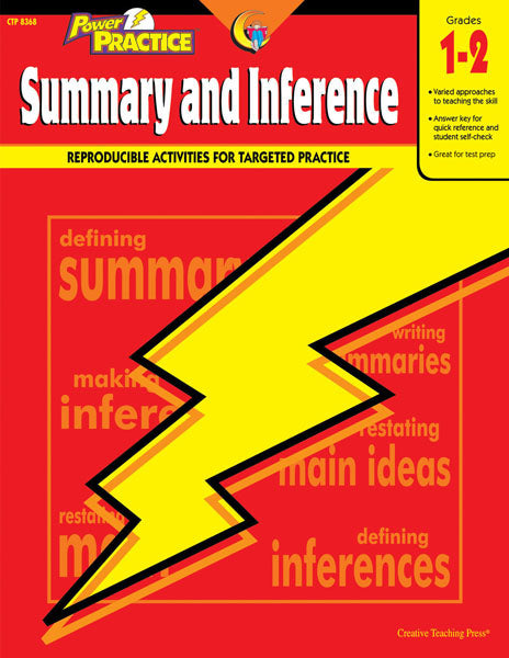 Power Practice: Summary and Inference, Gr. 1-2, Open eBook
