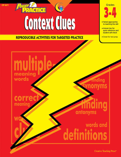 Power Practice: Context Clues, Gr. 3-4, Open eBook