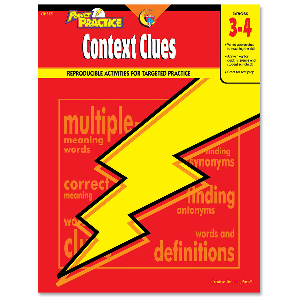Power Practice: Context Clues, Gr. 3-4, eBook