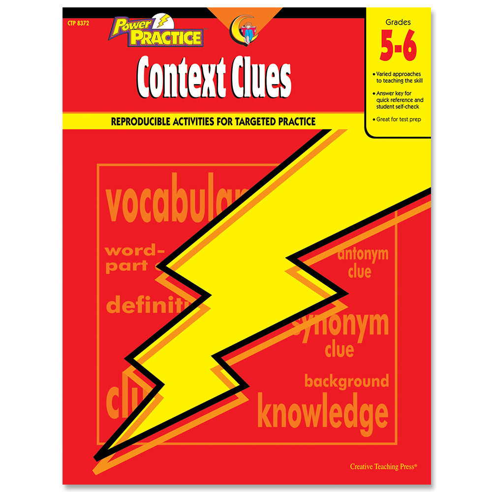 Power Practice: Context Clues, Gr. 5-6, eBook
