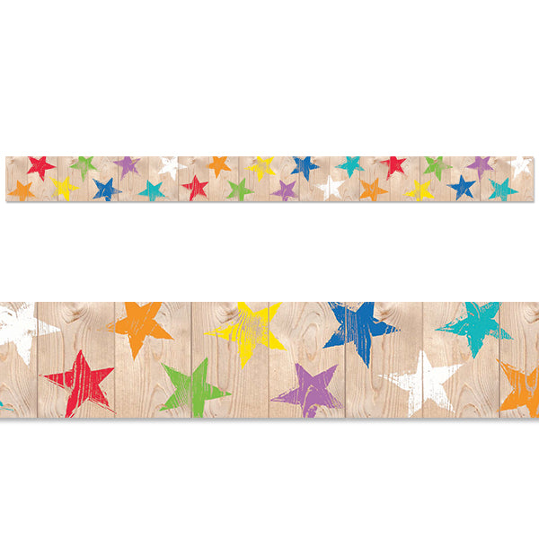Upcycle Style Rustic Stars Border