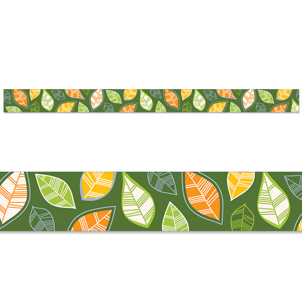 Woodland Friends Autumn Leaves Border