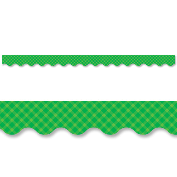 Green Gingham Border