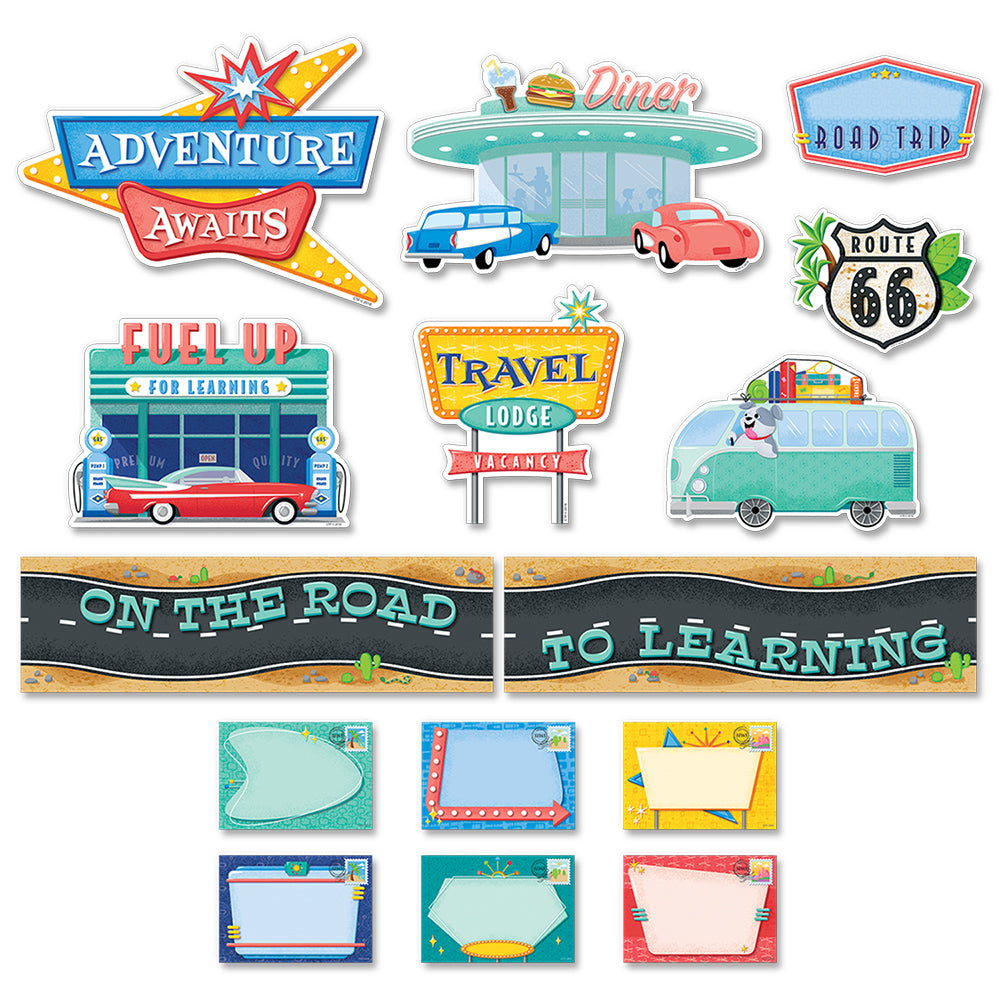 Mid-Century Mod On the Road to Learning Mini Bulletin Board