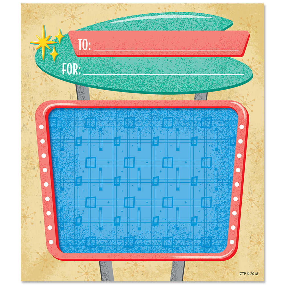 8464 Creative Teaching Press Mid Century Mod Retro-Patterned Pencils 6 Cut-Outs