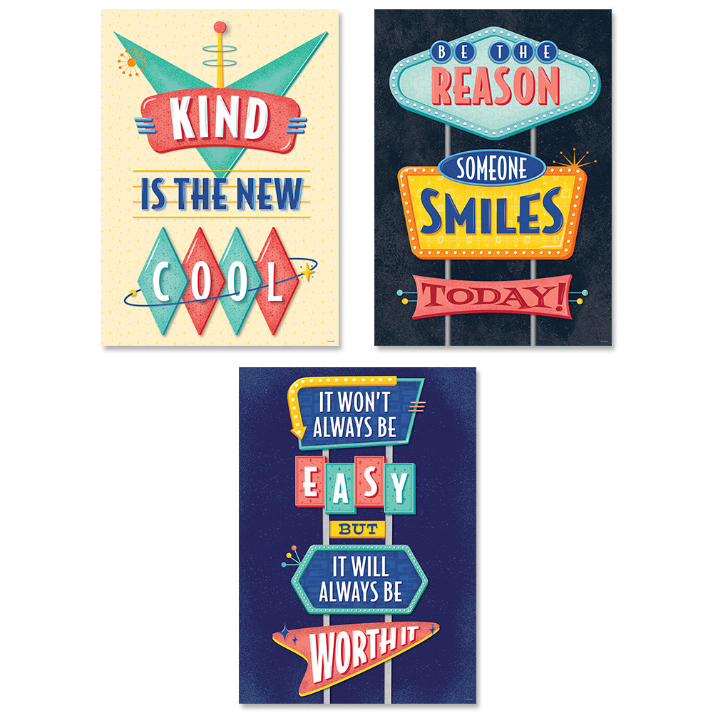 Mid-Century Mod Inspire U Poster 3-Pack