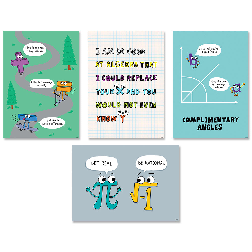 Math So Much Pun! Poster 4-Pack