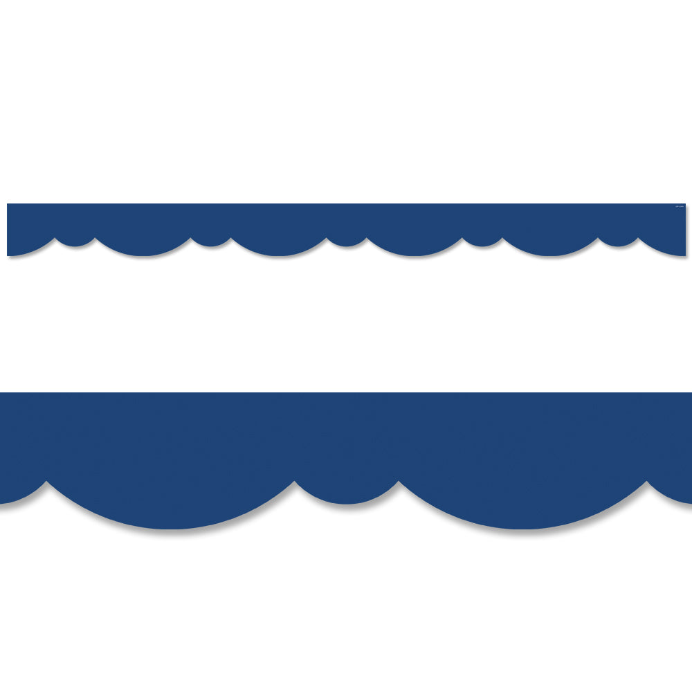 Blue Stylish Scallops Border