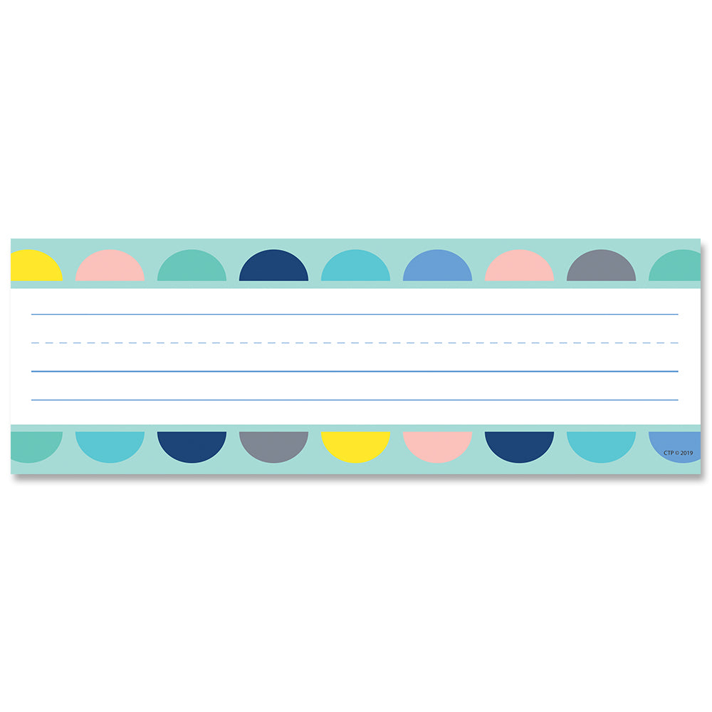 Calm & Cool Half-Dots on Turquoise Name Plates