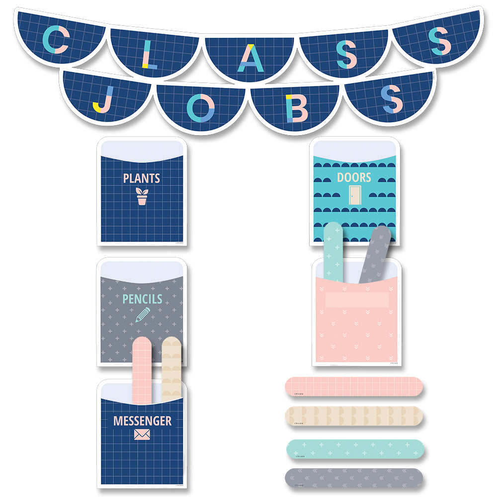 Calm & Cool Class Jobs Mini Bulletin Board