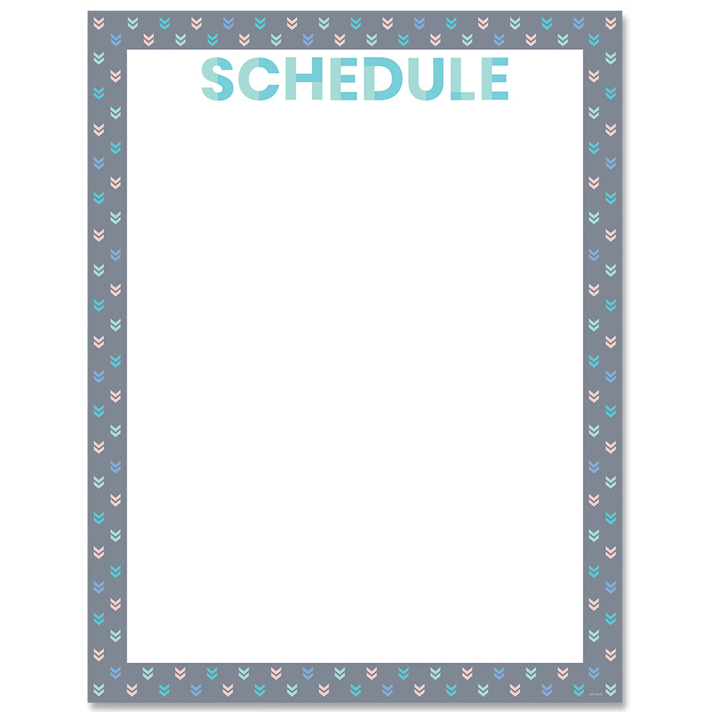Calm & Cool Schedule Chart