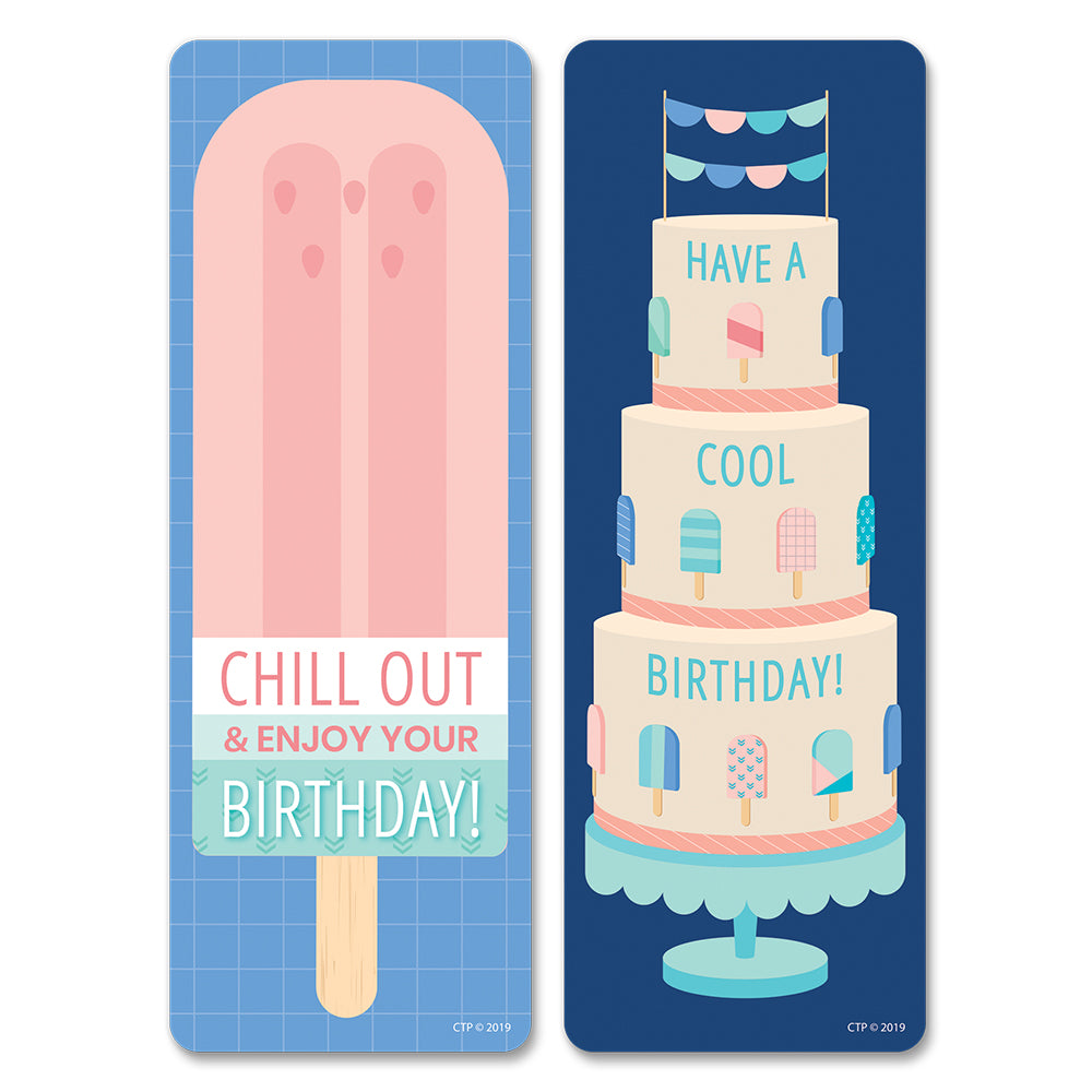 Calm & Cool Happy Birthday Bookmarks