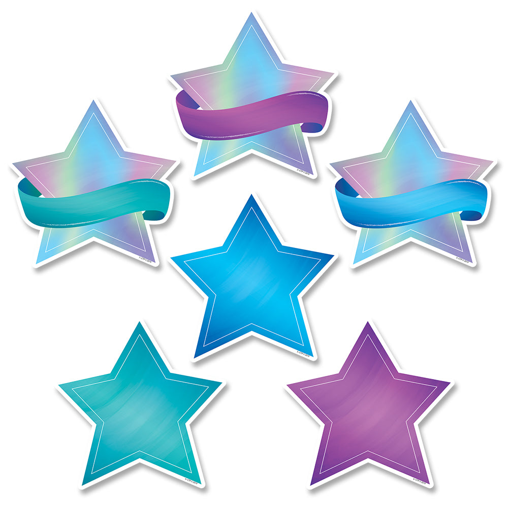 "Mystical Magical Shimmering Stars 6"" Designer Cut-Outs"