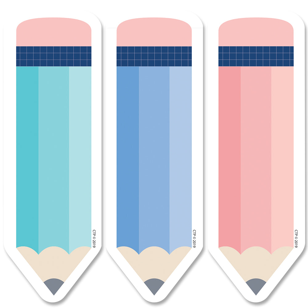 "Calm & Cool Pencils 6"" Designer Cut-Outs"