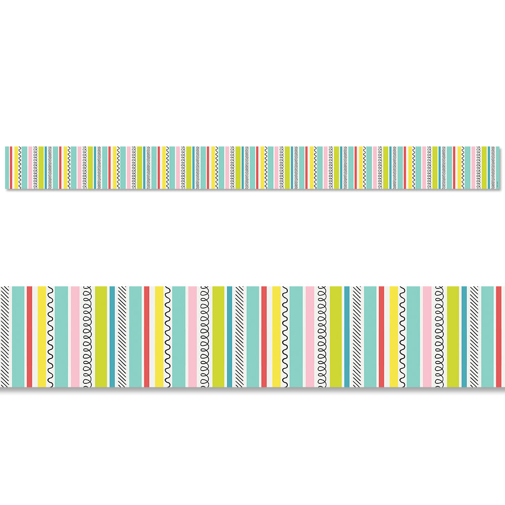 Poppin' Stripes Border