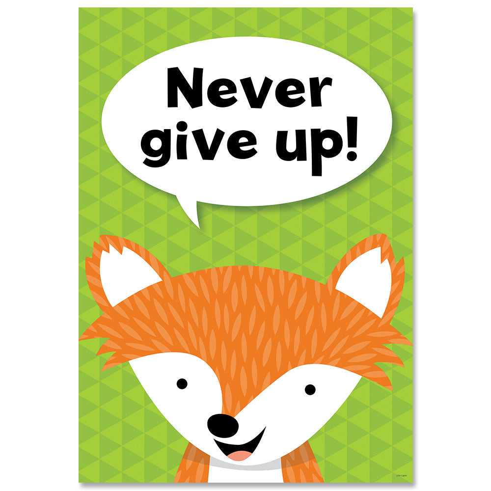 Never give up. Woodland Friends Inspire U Poster