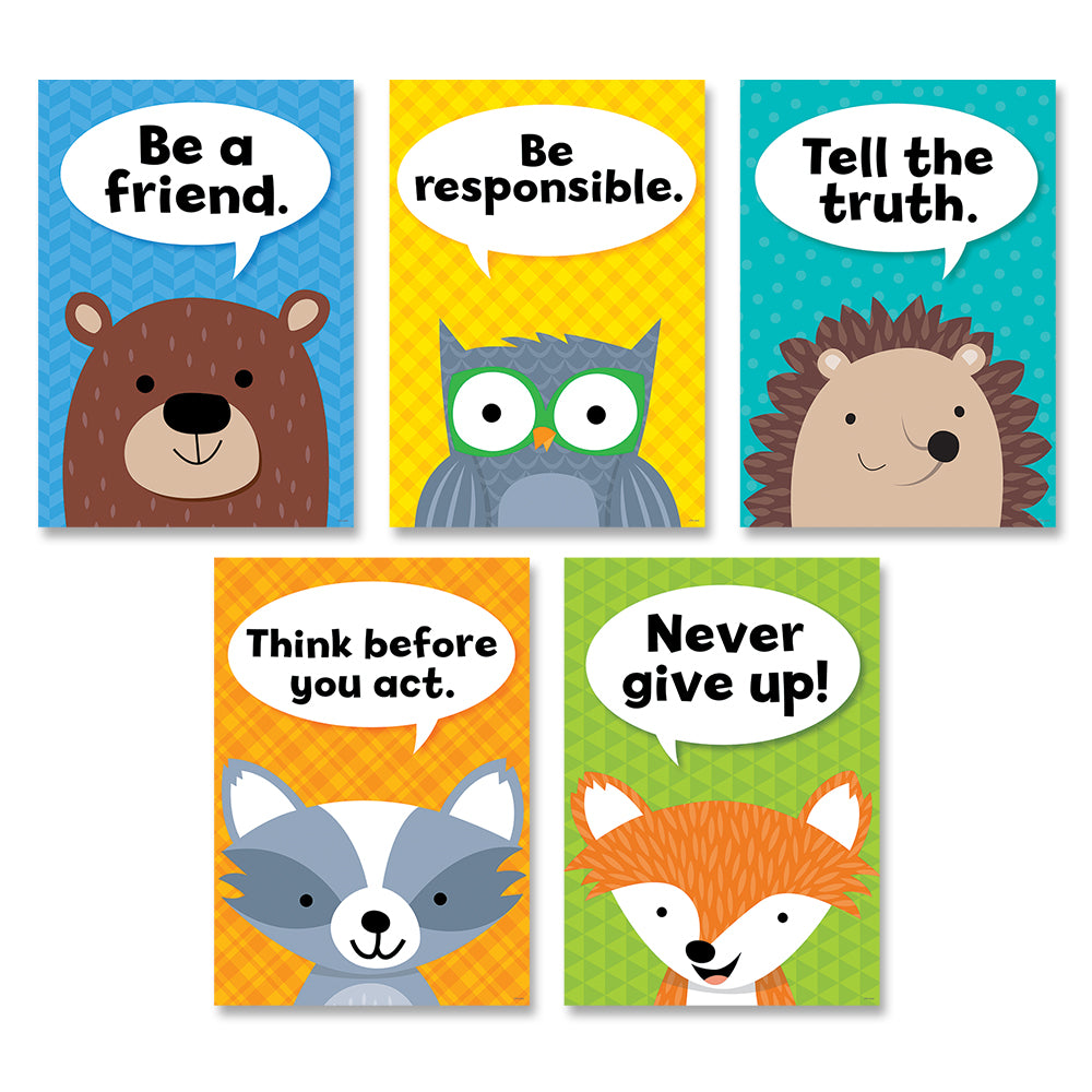 Woodland Friends Character Traits Inspire U Poster 5-Pack