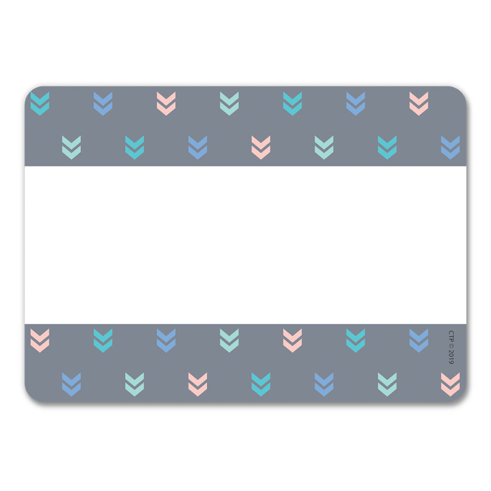 Calm & Cool Colorful Mini Chevrons Labels