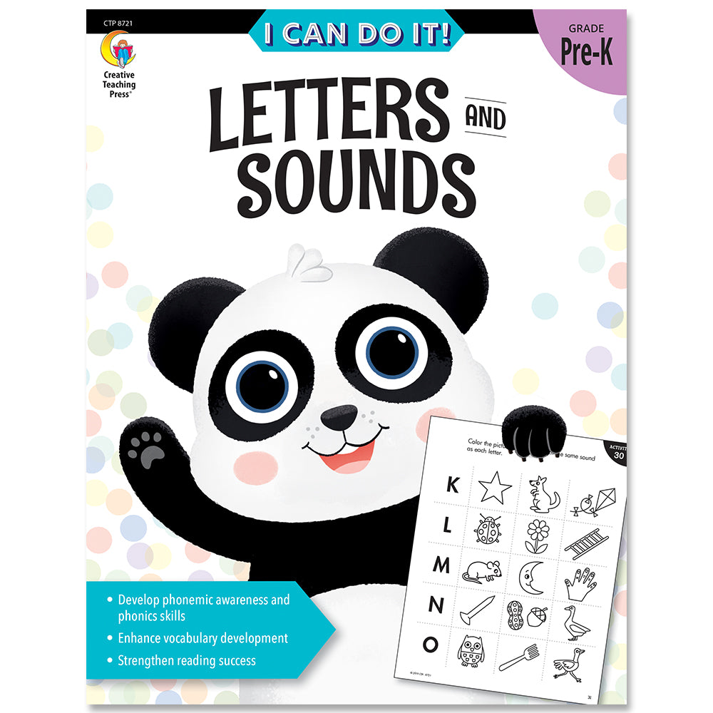 I Can Do It! Letters and Sounds eBook